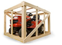 crated lawn mower